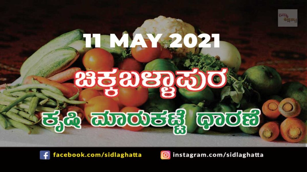 Chikkaballapur Agriculture Market APMC Daily Rates 11 may